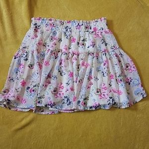 Floral sheer lined skirt (S)